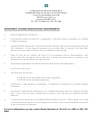 Application For Registration, Renewal Or Amendment To An Application Of Investment Adviser - Commonwealth Of Puerto Rico