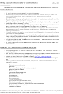 Sample Reference/letter Of Recommendation Template