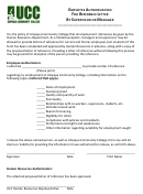 Employee Authorization For Reference Letter