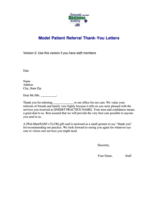 3 referral letter free to download in pdf model patient referral thank you letter template maxwellsz