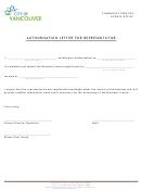 Authorization Letter Template For Representative