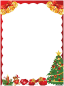 Bells And Gifts Christmas Page Border Template