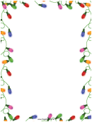 Christmas Lights Page Border Template
