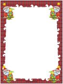 Santas And Trees Christmas Page Border Template