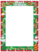 Merry Christmas Page Border Template