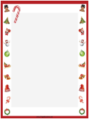 Candy Canes Christmas Page Border Template