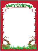 Christmas Reindeer Page Border Template