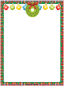 Ornaments And Wreath Christmas Page Border Template