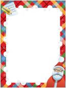 Santa List Christmas Page Border Template