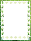 Christmas Trees Page Border Template