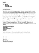 Letter Of Interest Reply Template - Adverse Action Notice