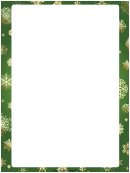 Green Snowflakes Christmas Page Border Template
