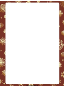 Christmas Snowflakes Page Border Template