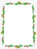 Colorful Garland Christmas Page Border Template