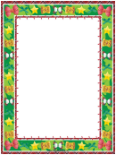 Stars And Bows Christmas Page Border Template