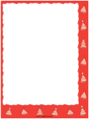 Red Trees Christmas Page Border Template
