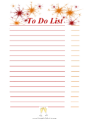 New Year To Do List