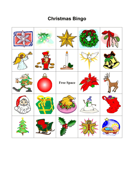 Christmas Bingo Template