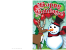 Snowman Christmas Card Template