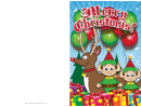 Santa Elves Christmas Card Template