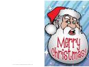 Big Santa Christmas Card Template