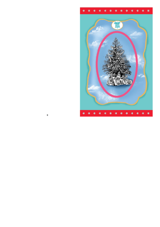 Silver Tree Christmas Card Template