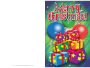 Gifts And Ornaments Christmas Card Template