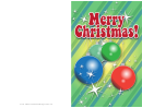 Colorful Ornaments Christmas Card Template