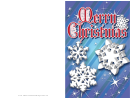 Snowflakes Christmas Card Template