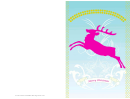 Reindeer Christmas Card Template