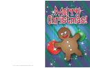 Gingerbread Man Christmas Card Template