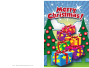 Trees And Gifts Christmas Card Template
