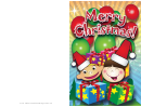 Kids And Gifts Christmas Card Template