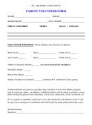 St. Gilbert Athletics Parent Volunteer Form