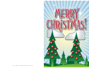 Two Trees Christmas Card Template