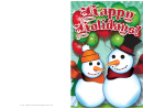 Snowmen Christmas Card Template