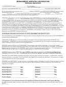 Management Services Corporation Sublease Agreement Template