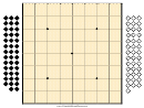 9x9 Go Board Template