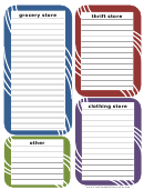 Shopping List Spreadsheet For Multiple Stores