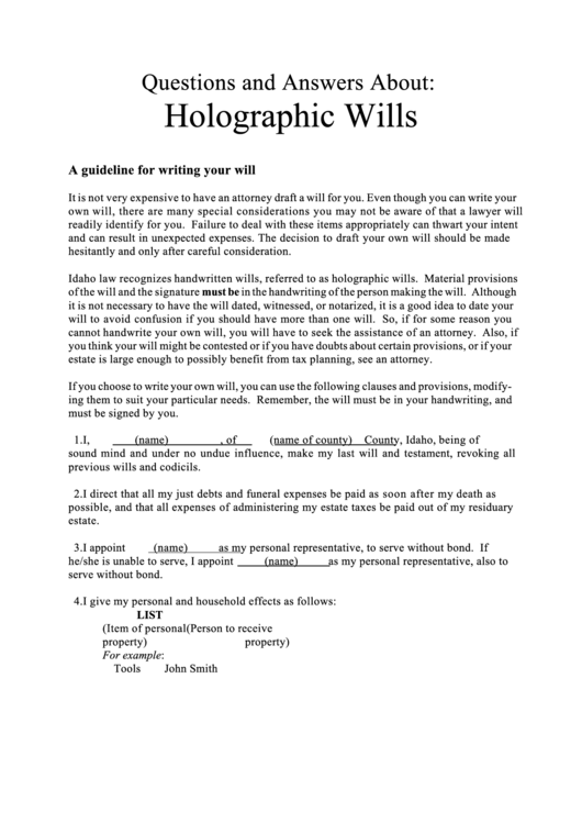 Writing your will worksheet template printable pdf download for Template for writing a will