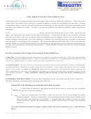 New Jersey Instruction Directive Template