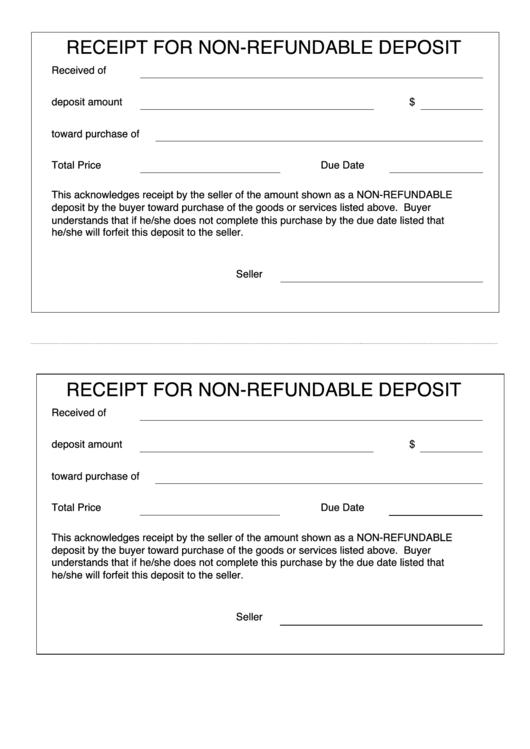 26 deposit receipt templates free to download in pdf