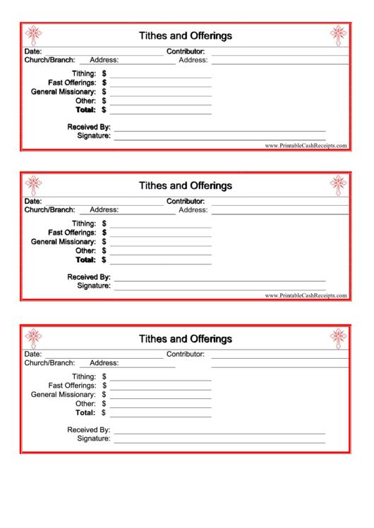 church donation receipt template printable pdf download