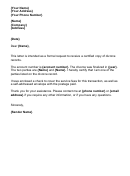Request For Divorce Records Letter Template