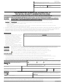 Authorization Form To Disclose Information To The Social Security Administration (ssa)