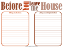 Before You Leave The House List