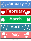 Calendar Month Tag Templates - Illustrated
