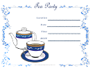 Tea Party Flyer Templates