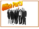 Office Party Flyer Template