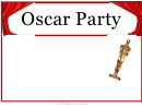 Oscar Party Flyer Template